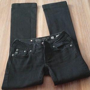 Miss Me Size 25 Black Jeweled Bootcut Jean's